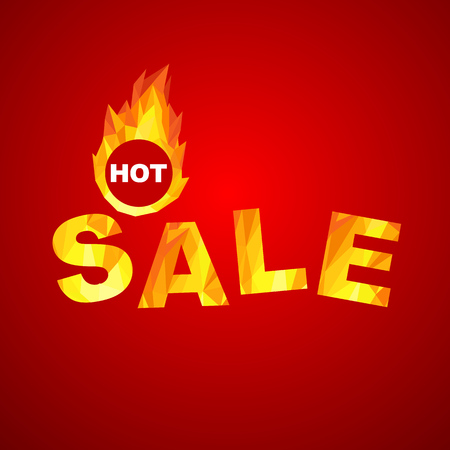 cheap: Fiery hot sale design a geometric illustrations. Illustration