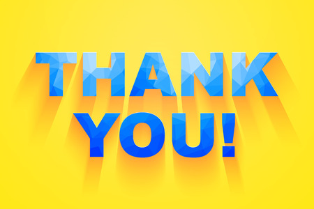 thank you very much: Thank you card design. vector illustration.