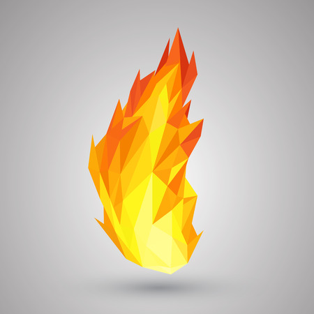wildfire: Creative fire background. Vector illustration. Illustration