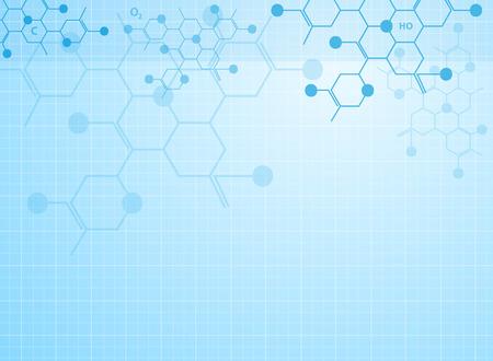 추상적 인 배경 의료 물질과 분자. 일러스트