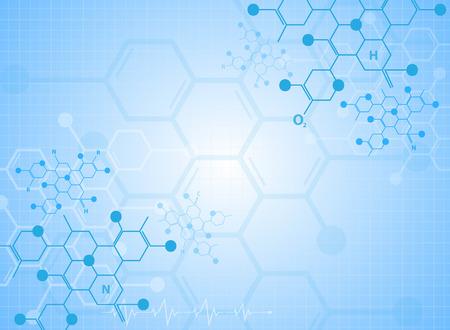 chemistry: Fondo abstracto sustancia m�dica y mol�culas.