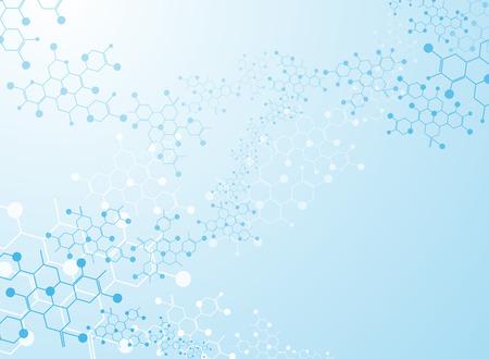 Abstract background medizinische Substanz und Molekülen.