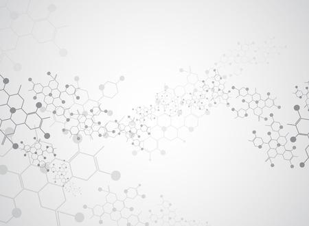 Abstrakcyjne tło medyczne i cząsteczki substancji. Ilustracje wektorowe