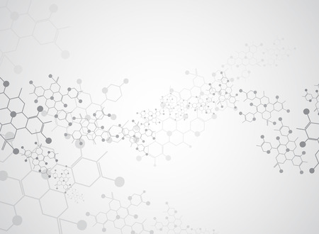 química: Fondo abstracto sustancia médica y moléculas.
