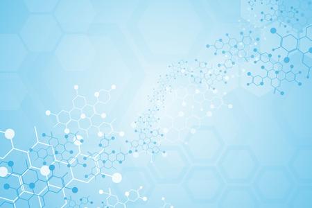 Abstrakcyjne tło medyczne i cząsteczki substancji.