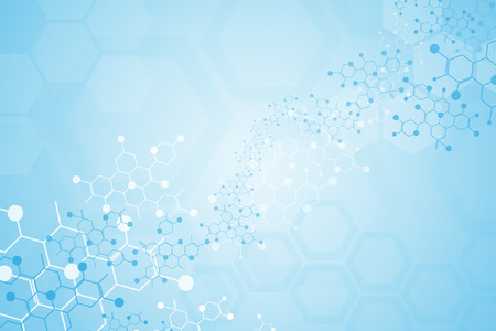 Abstract background medical substance and molecules. Vectores