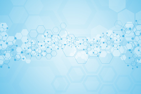 Abstract background medical substance and molecules. Vector