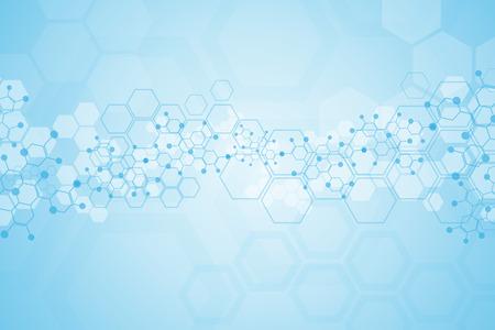 Astratto sfondo sostanza medica e molecole. Archivio Fotografico - 37128821