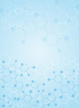 Astratto sfondo sostanza medica e molecole.