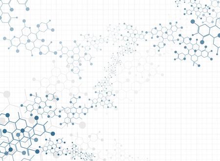 Abstract background medizinische Substanz und Molekülen. Standard-Bild - 37249481