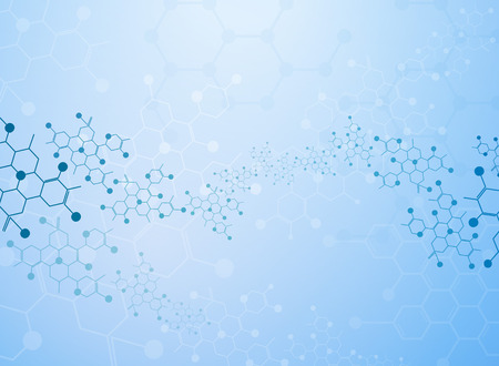 Abstract background medical substance and molecules. 向量圖像