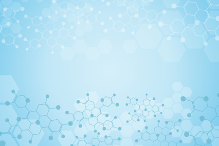 compound: Abstract background medical substance and molecules. Illustration