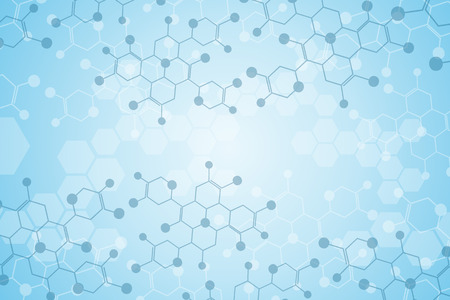 molecule background: Abstract background medical substance and molecules. Illustration