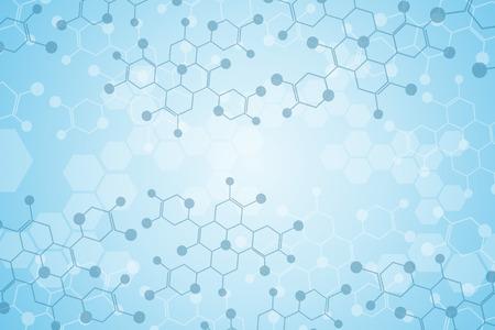 in chains: Fondo abstracto sustancia médica y moléculas.