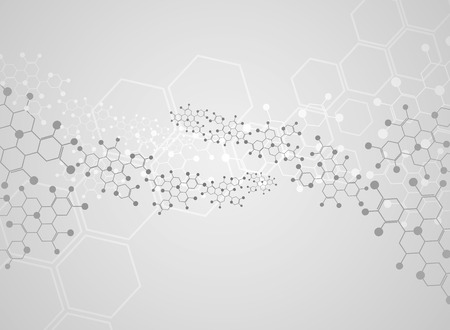 Abstract background medical substance and molecules. Çizim