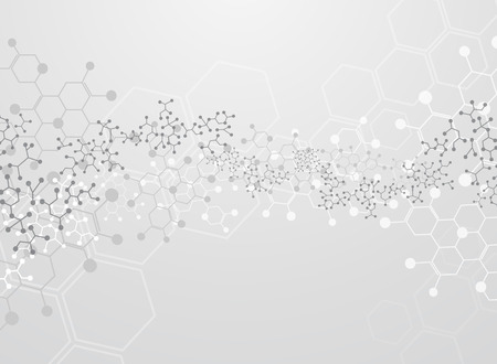 Abstract background medical substance and molecules. Illustration