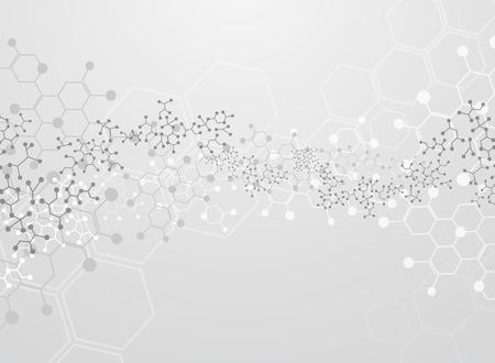cadenas: Fondo abstracto sustancia médica y moléculas.