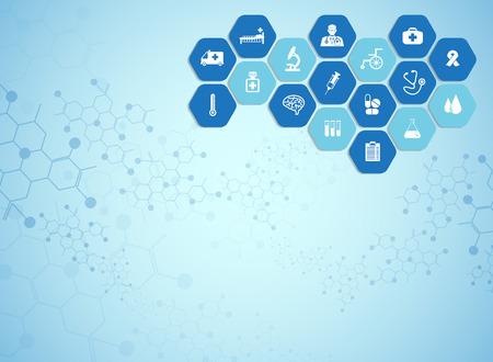 Medizinischen Hintergrund und Symbole, um Patienten zu behandeln. Standard-Bild - 39538149