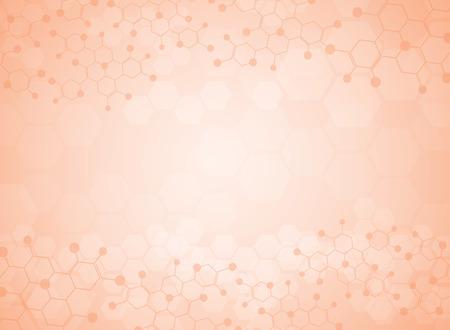 抽象的な背景医療用物質と分子。  イラスト・ベクター素材