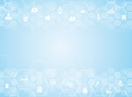 papel tapiz: Antecedentes médicos y los iconos para el tratamiento de los pacientes.