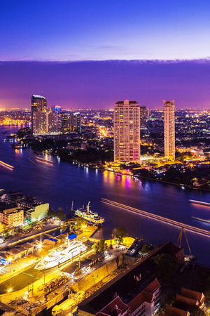 condo: Bangkok City at night time, Hotel and resident area in the capital of Thailand