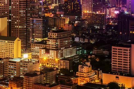 bangkok NIGHT: Bangkok cityscape. Bangkok night view in the business district. at dusk.