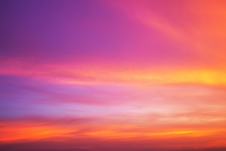 background color: Colorful sky after the sunset. Evening sky background. Stock Photo