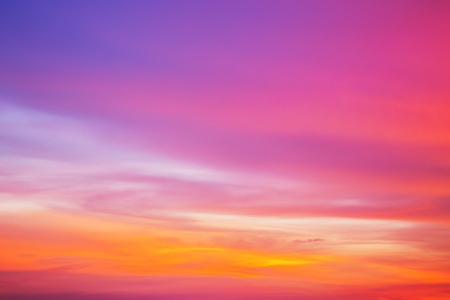 Colorful sky after the sunset. Evening sky background. Banco de Imagens