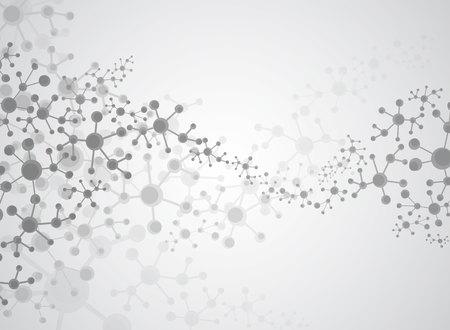 추상적 인 배경 의료 물질 및 분자입니다.