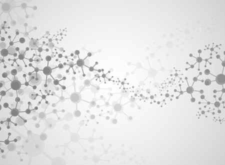Abstracte achtergrond medische stof en moleculen. Stock Illustratie