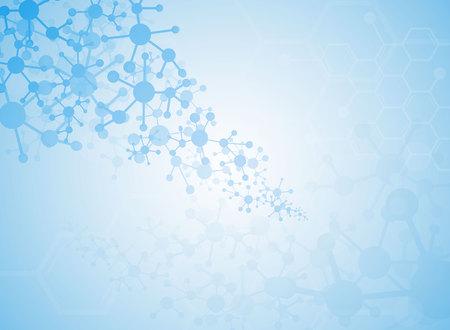 Medical background forms of the molecule. Illustration