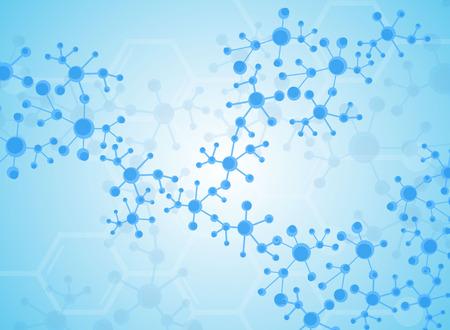 Medizinischer Hintergrund Formen des Moleküls. Vektorgrafik