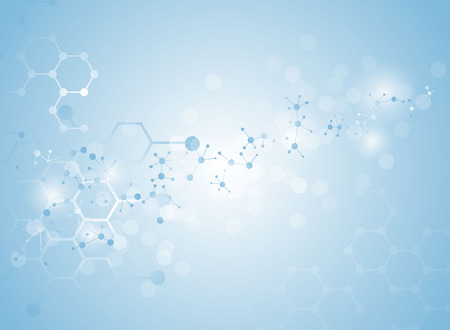estructura: estructura molecular ilustraciones de fondo médico Vectores