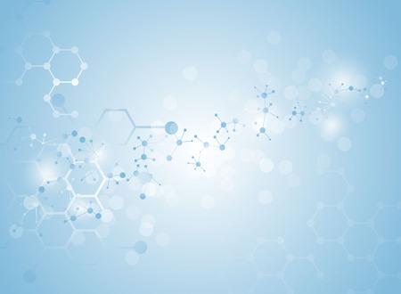 moleculaire structuur medische achtergrond Illustraties Vector Illustratie