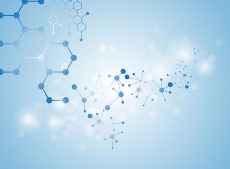molecular structure: molecular structure medical background Illustrations