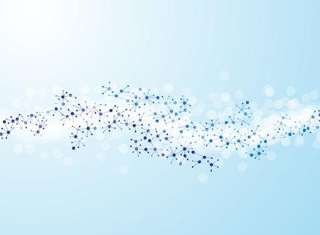 estructura molecular ilustraciones de fondo médico