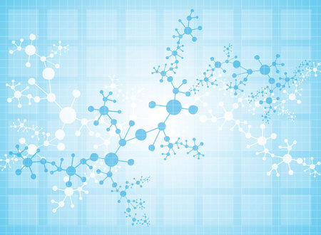 deoxyribonucleic acid: molecular structure medical background Illustrations