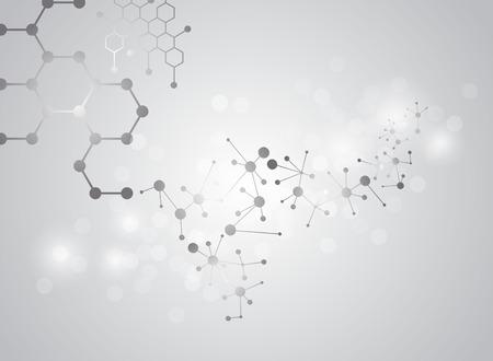 molecular structure médicale fond Illustrations
