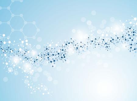 hospital background: molecular structure medical background Illustrations