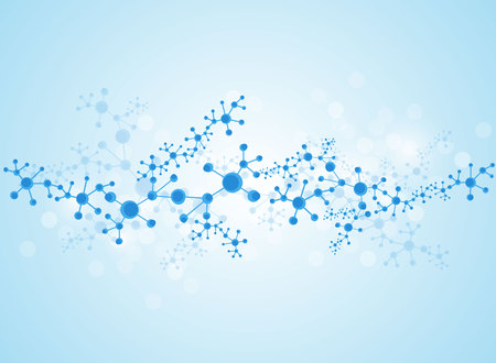 macromolecule: molecular structure medical background Illustrations