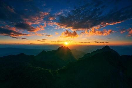 mountain sunset: Mountain sunset sky, Doi Luang Chiang Dao, Thailand.