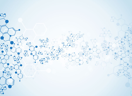 macromolecule: Abstract background medical substance and molecules. Illustration