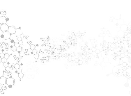 substance: Abstract background medical substance and molecules. Illustration