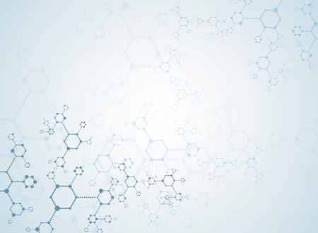 medical abstract: Abstract background medical substance and molecules. Illustration