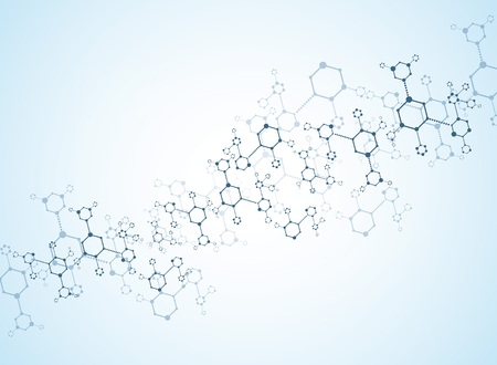 biological: Abstract background medical substance and molecules. Illustration
