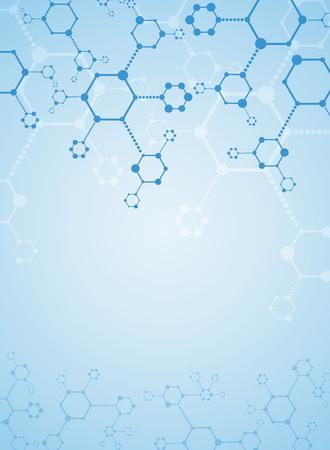 Fondo abstracto sustancia médica y moléculas.
