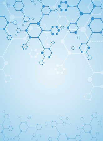 pharmaceutical industry: Abstract background medical substance and molecules. Illustration