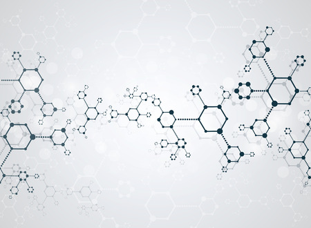 recommendations: Abstract background medical substance and molecules. Illustration