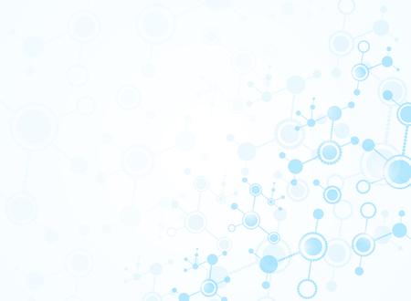 Illustrazioni mediche del fondo di scienza astratta Vettoriali