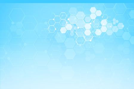 Abstracte medische achtergrond en wetenschap concept achtergrond. Vector Illustratie